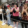 Scenes from the Fitchburg Goodrich Academy graduation at Fitchburg High School on Thursday June 1, 2017. Family and friends wait to get a picture of their graduate during the presentation of the diplomas. SENTINEL & ENTERPRISE/JOHN LOVE