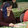 Fitchburg's Goodrich Academy held a holiday party for it students on Wednesday, Dec. 18, 2019. Playing Bingo at the party for some prizes is student Natalie Winch, 17. SENTINEL & ENTERPRISE/JOHN LOVE