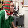 Fitchburg's Goodrich Academy held a holiday party for it students on Wednesday, Dec. 18, 2019. All dressed up for the party is former student Aisha Santiago who was volunteering. SENTINEL & ENTERPRISE/JOHN LOVE