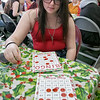 Fitchburg's Goodrich Academy held a holiday party for it students on Wednesday, Dec. 18, 2019. Playing Bingo at the party for some prizes is sophomore Kendra Grant. SENTINEL & ENTERPRISE/JOHN LOVE