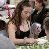 Fitchburg's Goodrich Academy held a holiday party for it students on Wednesday, Dec. 18, 2019. Playing Bingo at the party for some prizes is junior Madie Marchand. SENTINEL & ENTERPRISE/JOHN LOVE
