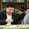 Fitchburg's Goodrich Academy held a holiday party for it students on Wednesday, Dec. 18, 2019. Playing Bingo at the party for some prizes is freshman Anthony Ortiz. SENTINEL & ENTERPRISE/JOHN LOVE