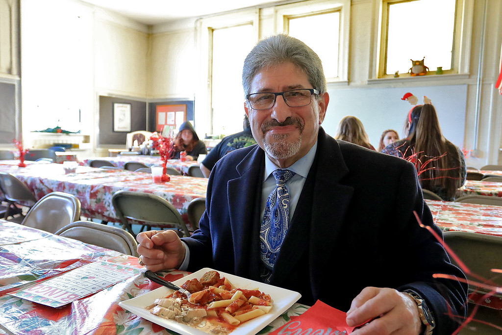 . Goodrich Academy in Fitchburg held a holiday lunch for students on Wednesday afternoon, December 19, 2018. They had six sponsors that helped them so they could put on this event for the students. They were Brandon Funeral Home, Ilforno Restaurant, A&B Tires, Foster Insurance, HML Development and Leo Xarras. Fitchburg Mayor Stephen DiNatale enjoyed the lunch. SENTINEL & ENTERPRISE/JOHN LOVE