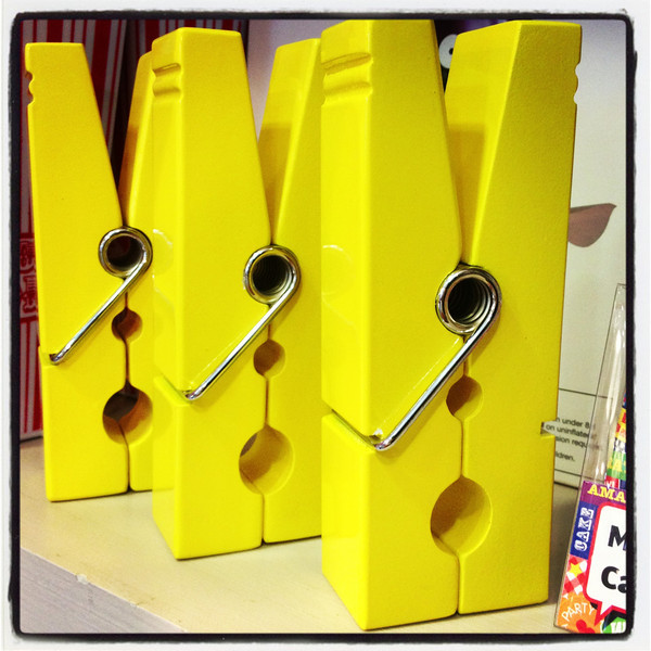 Giant Yellow Pegs