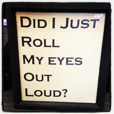 Eye Rolling