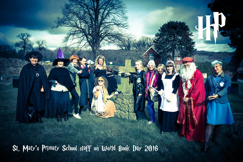 St. Mary's Primary School staff on World Book Day 2016