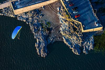 Vol au dessus du Quai de l'Islet sur Mer