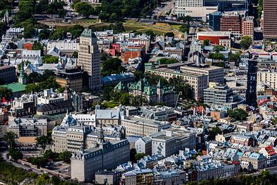 Vue aérienne du vieux Québec