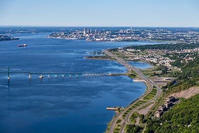 Baie de Beauport vue du ciel