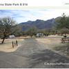 Catalina State Park, Tucson AZ, Campsite 14 with Casitas in background