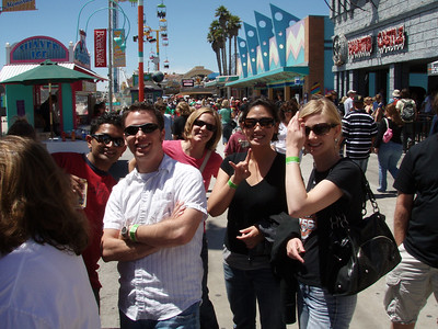 Product Specialists, Ashish Vij, Vince Chiaro, Loretta Titus, Bo Kim and Lisa Coffey at the AdWords Team Offsite at the Santa Cruz Beach Boardwalk