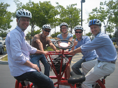 Product Specialist team on the conference bike