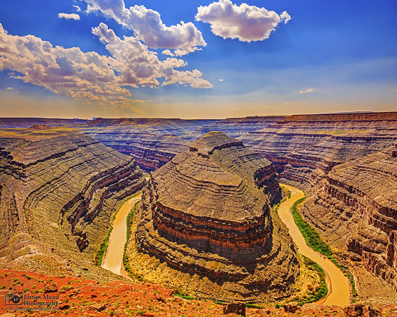 """""""Crooked Bend,"""" San Juan River, Goosenecks State Park, Utah"""