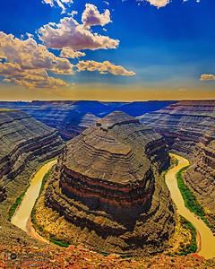 """The River's Cut,""  Golden Hour over the San Juan River, Goosenecks State Park, Utah"