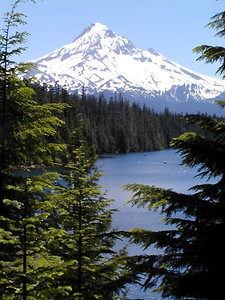 During a windless heat wave a favorite place to head is Lost Lake. Nestled at the base of Mt. Hood it is cool and beautiful. Easy to rugged hiking is available as are canoes and boats.