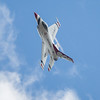 Air Force Thunderbird in High-G Inverted Turn