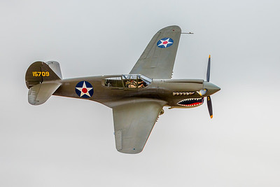 WWII American P-40 Flying Tiger Fighter Plane