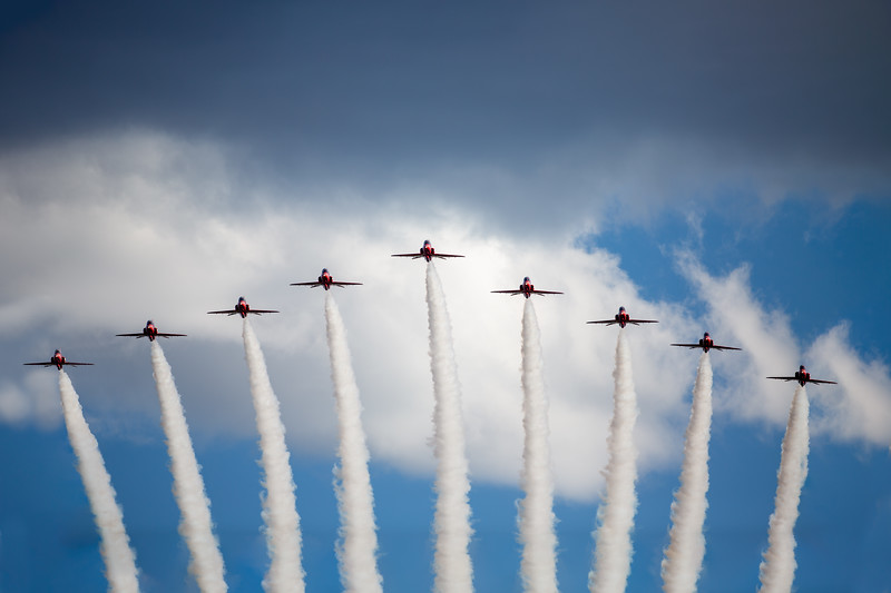 UK Red Arrows over the AFA