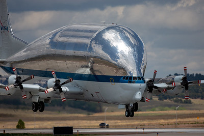 NASA Super Guppy Transport landing at the C/S Airport