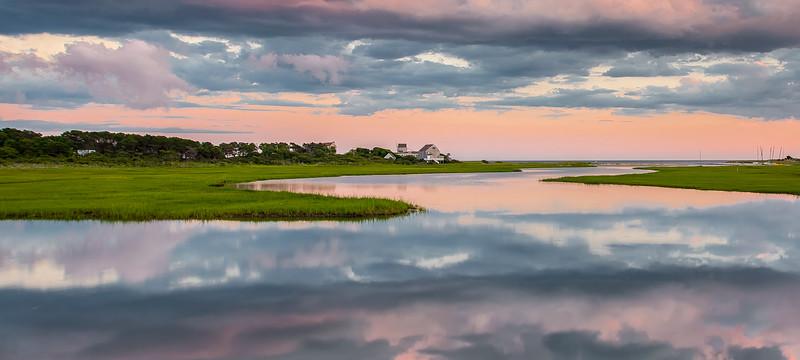 Swan Creek Sunset on Cape Cod