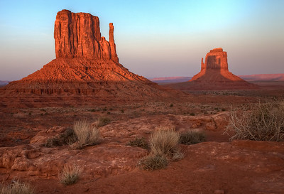 Monument Valley Mitten  Shadow at Sunset