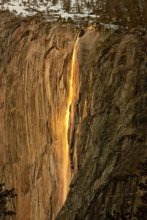 Horsetail Falls at Sunset, Yosemite NP, February 2012