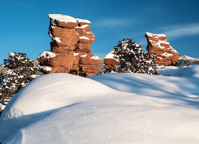 The Siamese Twins in Garden of the Gods, Colorado
