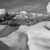 Pikes Peak framed by Spring Snow in B&W
