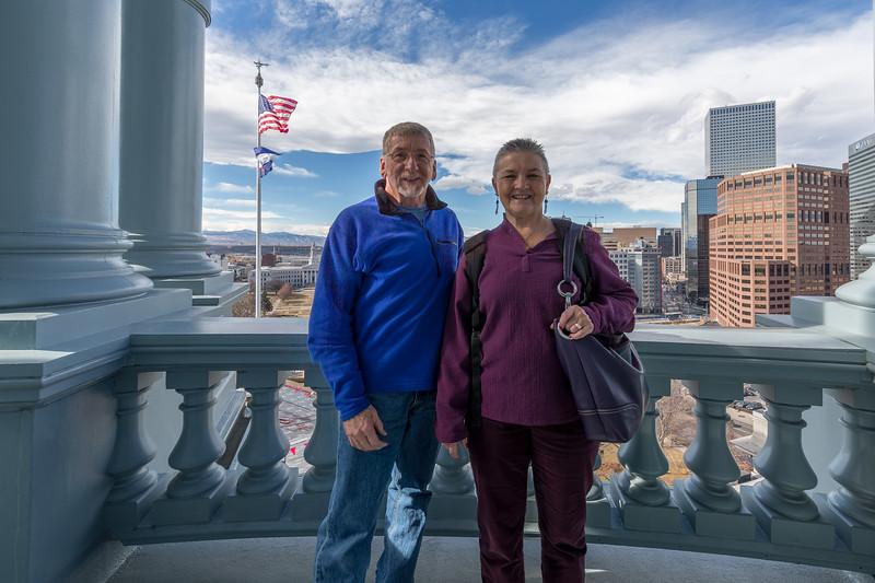 Visiting the Colorado State Capitol, Denver, February 2017