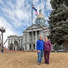 In Front of  the Colorado State Capitol, Denver, February 2017