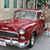 Ken Cass stands by his restored 1955 Chevy. This is Cass' seventh year attending the Cruising Reunion.