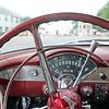 Ken Cass' 1955 Chevrolet sits at the corner of Lincoln and Main as Cass awaits Goshen's Cruisin' Reunion.