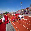 Goshen 2021 graduates take to the field during Sunday's Goshen High School Class of 2021 Commencement.