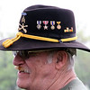 Roger Schneider | The Goshen News<br /> Vietnam War veteran LeRoy Harshberger, Goshen, wears his 1st Calvary hat to the Goshen Memorial Day service at Oakridge Cemetery. The ribbons Harshberger's hat is adorned with are his combat infantry  badge, a Purple Heart, a Bronze Star, an Air Medal, a Vietnam Service Medal and the year's he was in country, 1970 and 1971.