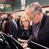 LYNNE ZEHR| THE GOSHEN NEWS<br /> Joy and John Liechty choose their silent auction item.