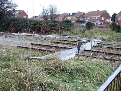 As can be seen, the track has been cut several yards west of Forest Way, from which this northwest view was taken on 25th December 2010.