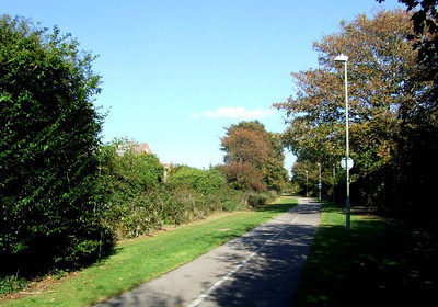 The view north towards Clayhall Road from the same position as the preceding photograph. 12th October 2009.