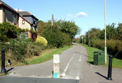 View north from Clayhall Road towards Jackie Spencer's Bridge and Little Anglesey Road. 12th October 2009.