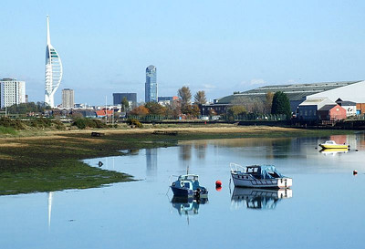 Haslar Creek, looking west from the trackbed immediately south of Jackie Spencer's Bridge. 12th October 2009.