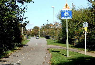 View from just north of Clayhall Road towards Jackie Spencer's Bridge and Little Anglesey Road. 12th October 2009.