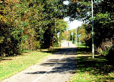 The view north towards Jackie Spencer's Bridge from south of Clayhall Road. 12th October 2009.