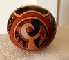 This is another canonball gourd with a Hopi influenced design.