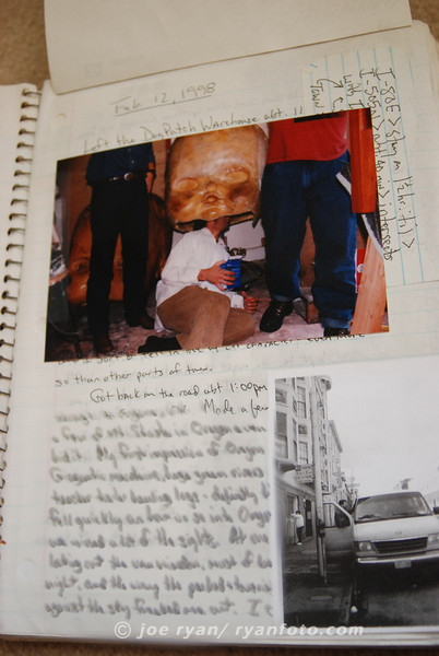 my Gourds tour journal<br /> leaving San Francisco, CA<br /> February 12, 1998