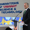Gov. Charlie Baker was at MilliporeSigma on Wednesday morning for the ribbon cutting to open its new North American Life Science Center in Burlington. Baker Addresses the crowd at the event. SUN/JOHN LOVE