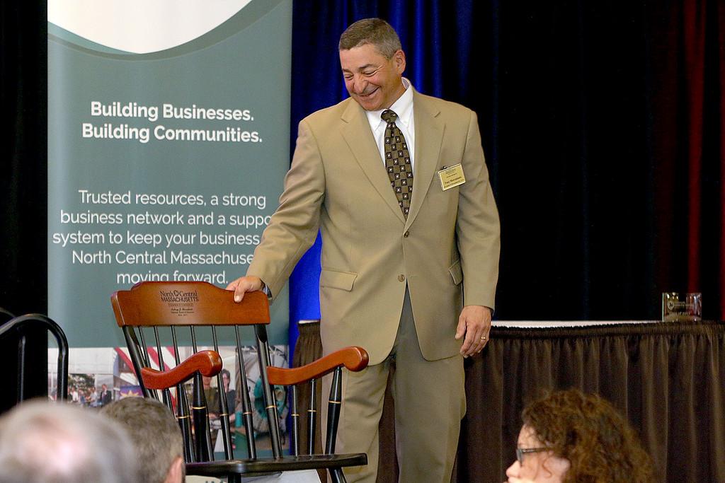 . Scenes form North Central Massachusetts Chamber of Commerce annual business meeting featuring Gov. Charlie Baker as keynote speaker Thursday, June 15, 2017. SENTINEL & ENTERPRISE/JOHN LOVE