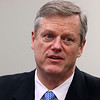Gov. Charlie Baker visited the Sun newsroom on Wednesday February 15, 2017.  SUN/JOHN LOVE