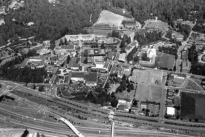 During Gov. George Deukmejian's July 1984 helicopter tour, the governor flew over Humboldt State University. (Times-Standard file photo)