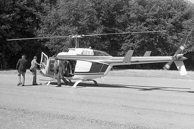 Gov. George Deukmejian  took a helicopter tour of the route along which the Redwood National Park bypass was to be built in July 1984 during a visit to the North Coast. (Times-Standard file photo)