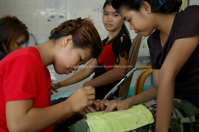 Vocational Training, Cambodia, 2006. Courtesy & © Australian Government, AusAID. AUSAIDXXX