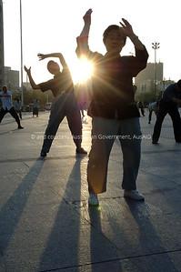 Morning exercise, Urumqi, China, 2006. Courtesy & © Australian Government, AusAID. AUSAIDXXX